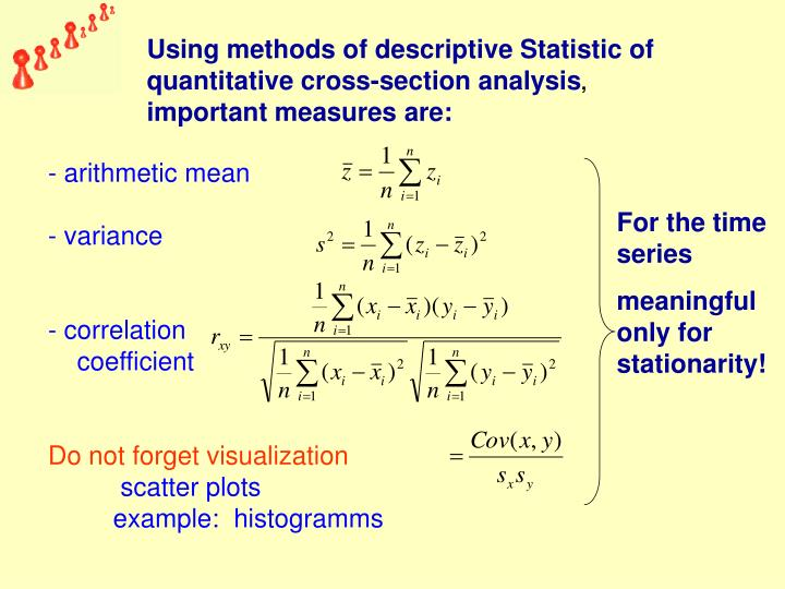Using methods of descriptive Statistic of