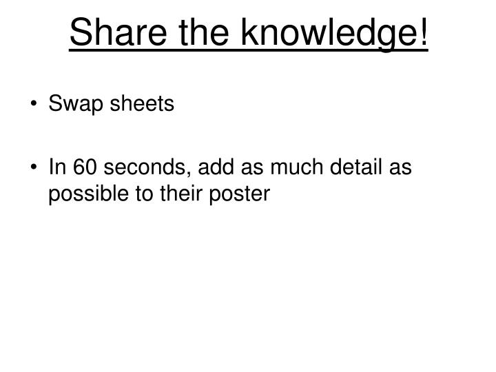 Share the knowledge!