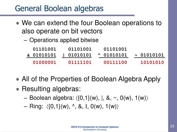 General Boolean algebras