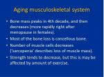 aging musculoskeletal system1