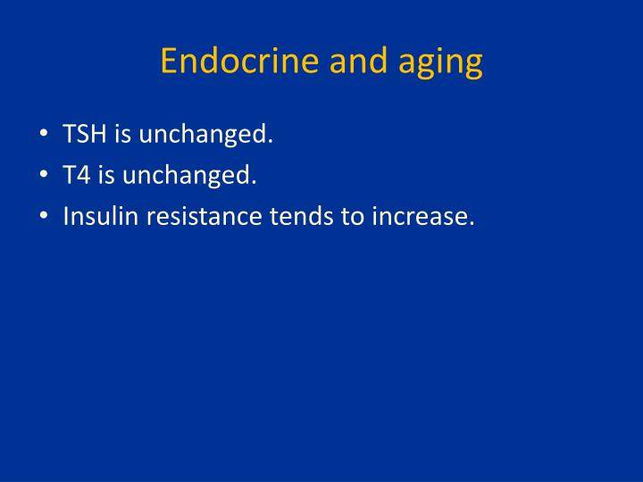 Endocrine and aging