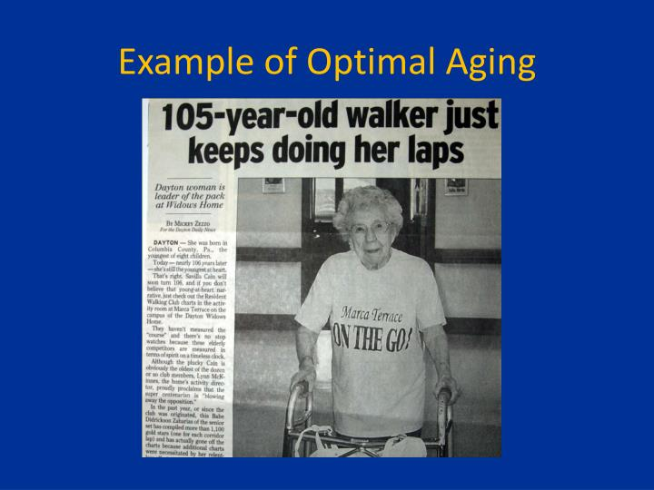 Example of Optimal Aging