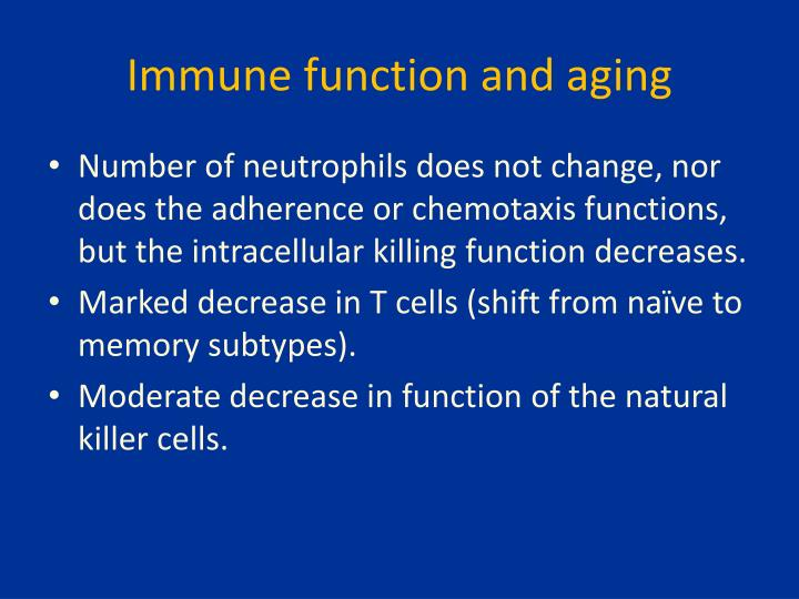 Immune function and aging