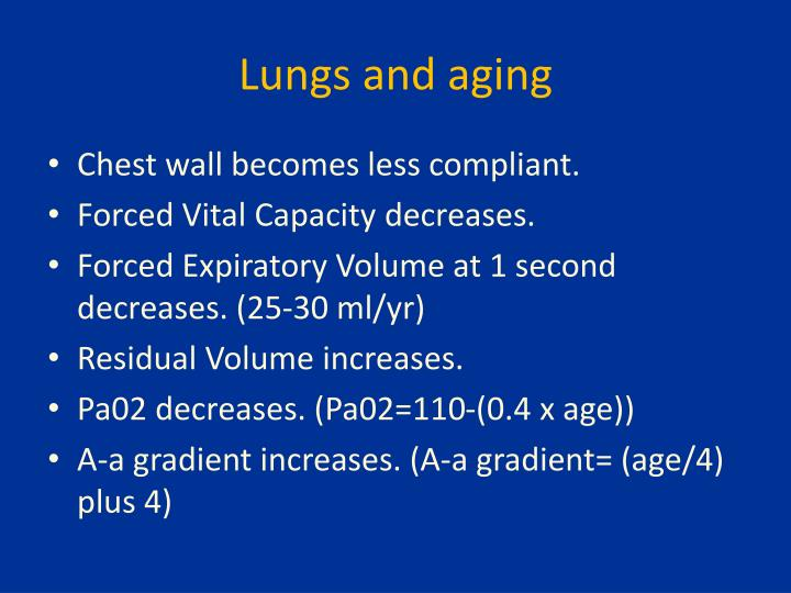 Lungs and aging