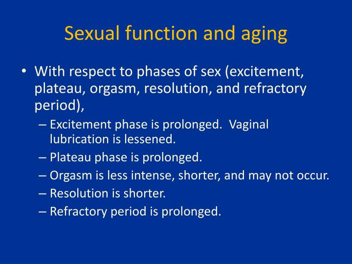 Sexual function and aging
