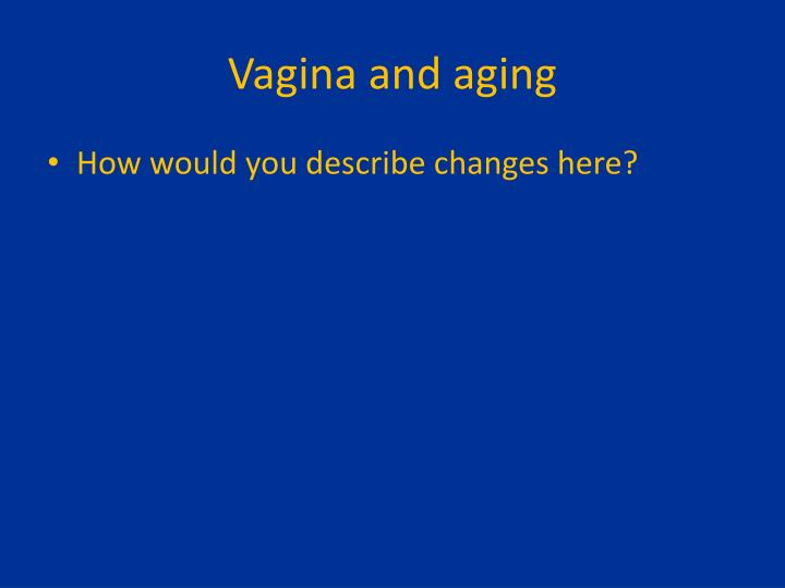 Vagina and aging