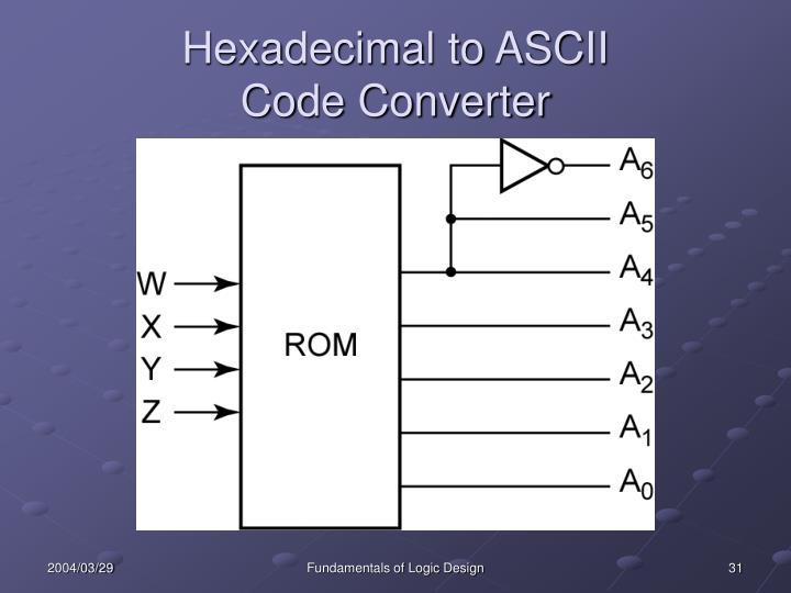Hexadecimal to ASCII