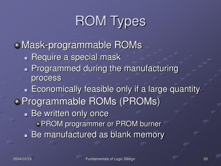 ROM Types