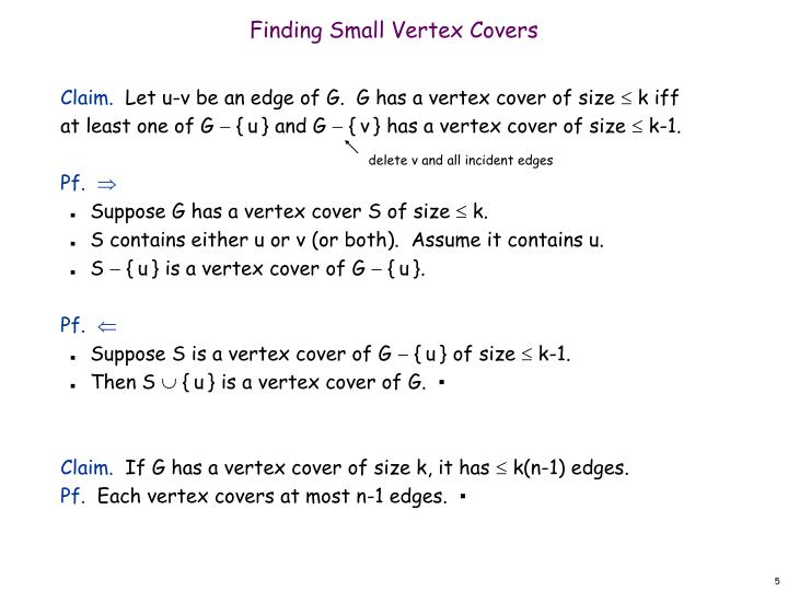 Finding Small Vertex Covers