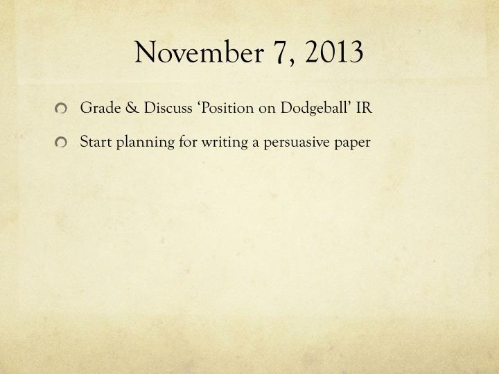 November 7, 2013