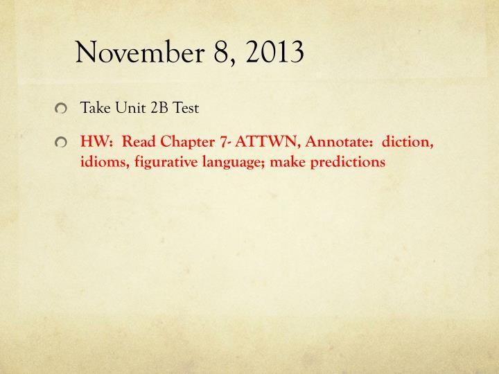 November 8, 2013