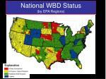 national wbd status by epa regions