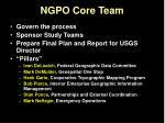 ngpo core team