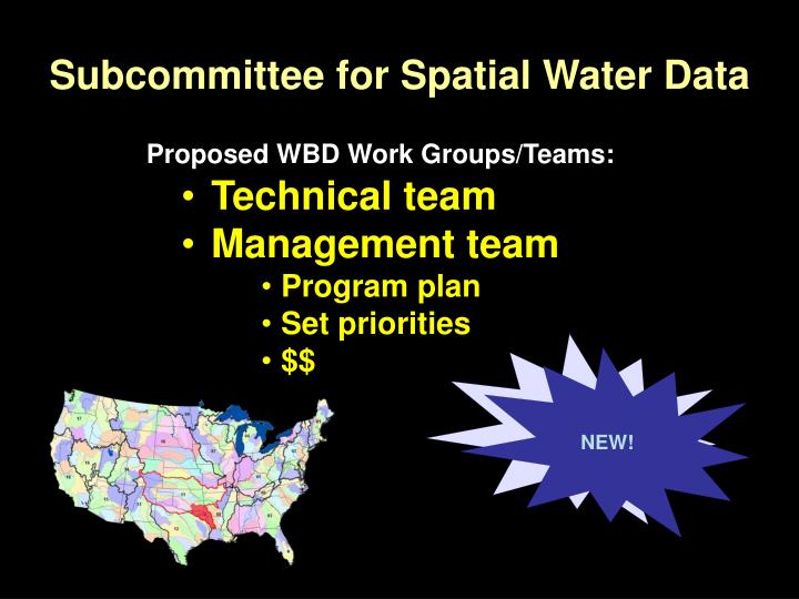Subcommittee for Spatial Water Data