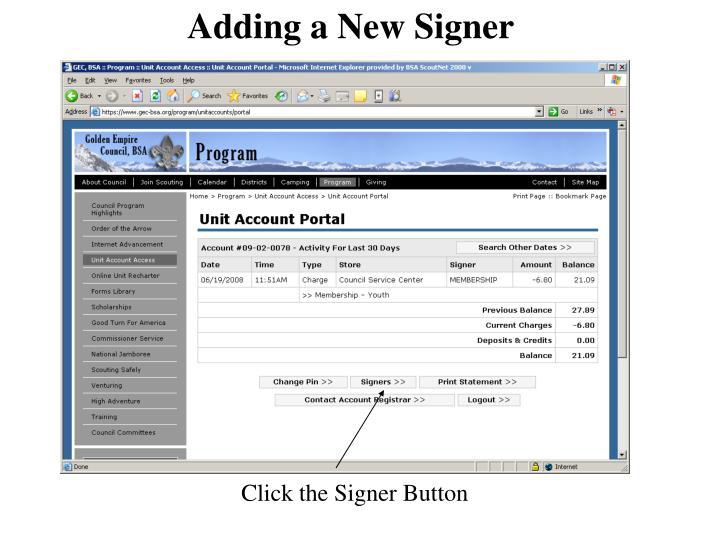 Adding a New Signer