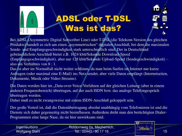 ADSL oder T-DSL