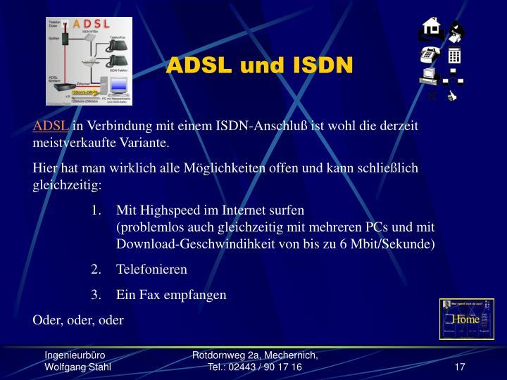ADSL und ISDN