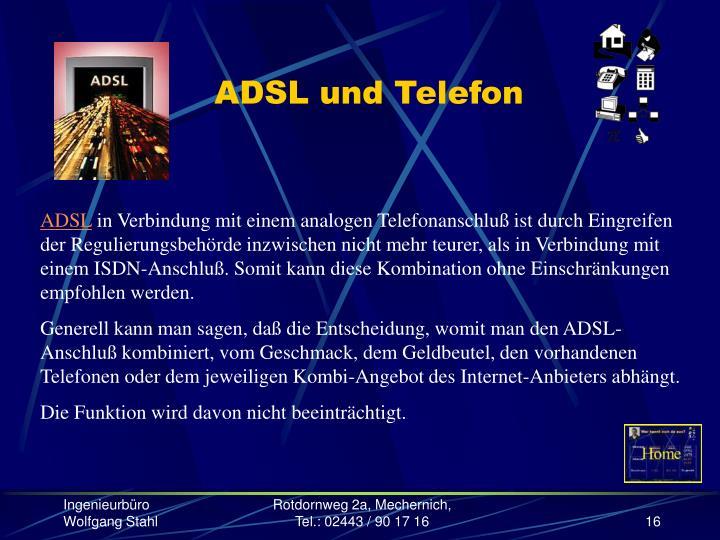 ADSL und Telefon