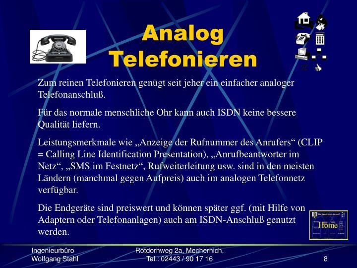Analog Telefonieren