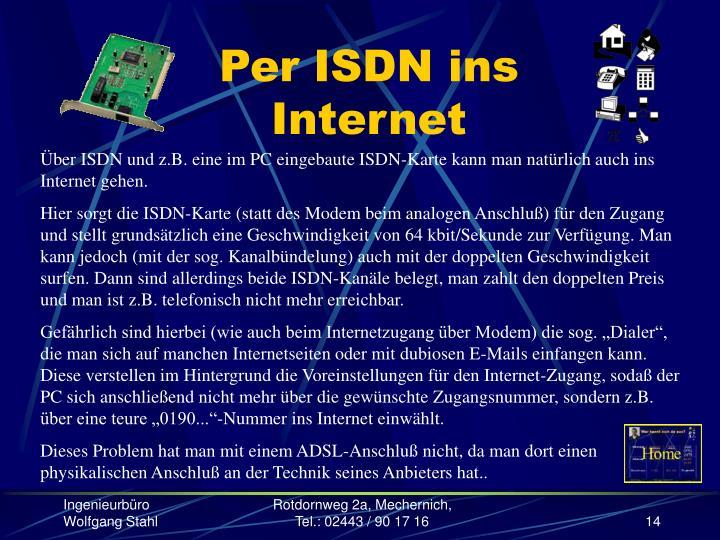 Per ISDN ins Internet
