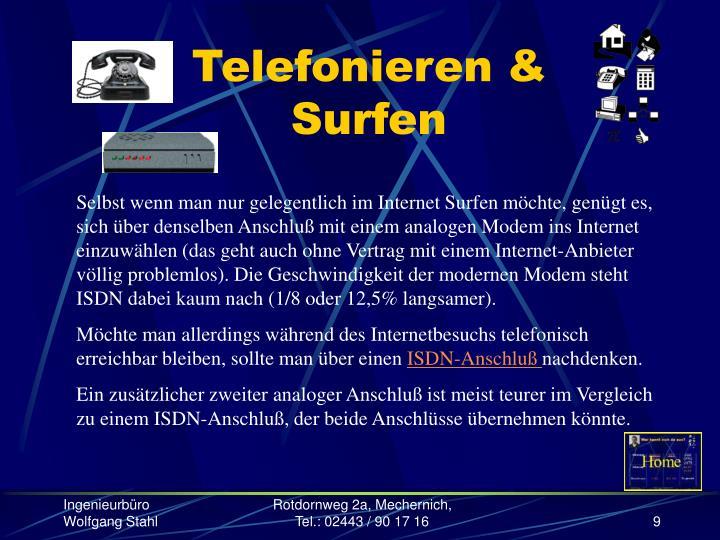 Telefonieren & Surfen