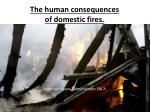 the human consequences of domestic fires