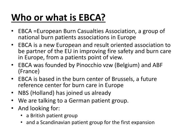 Who or what is EBCA?