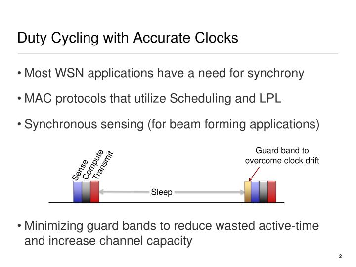 Duty cycling with accurate clocks