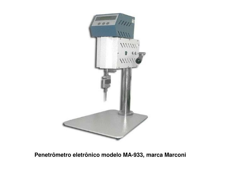 Penetrômetro eletrônico modelo MA-933, marca Marconi
