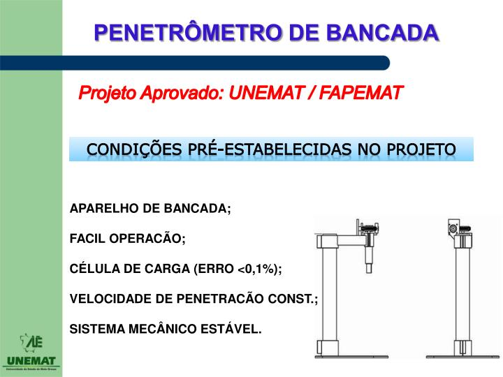 Projeto Aprovado: UNEMAT / FAPEMAT