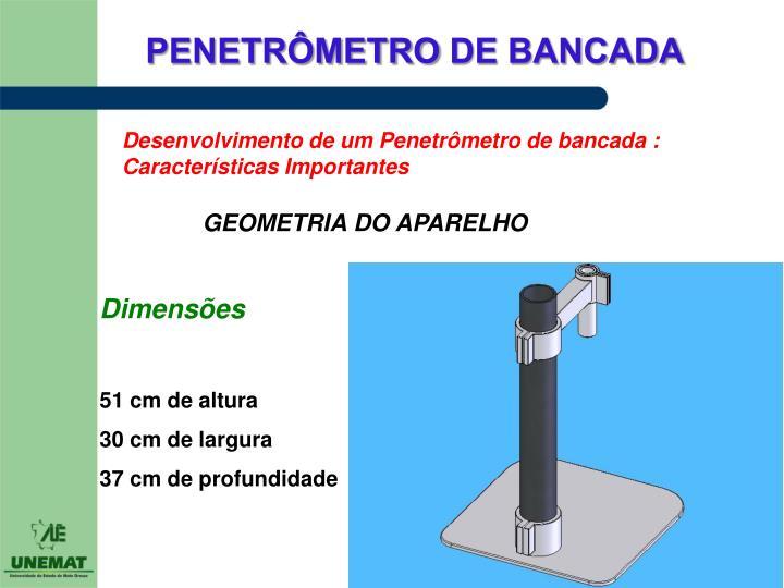 Desenvolvimento de um Penetrômetro de bancada : Características Importantes