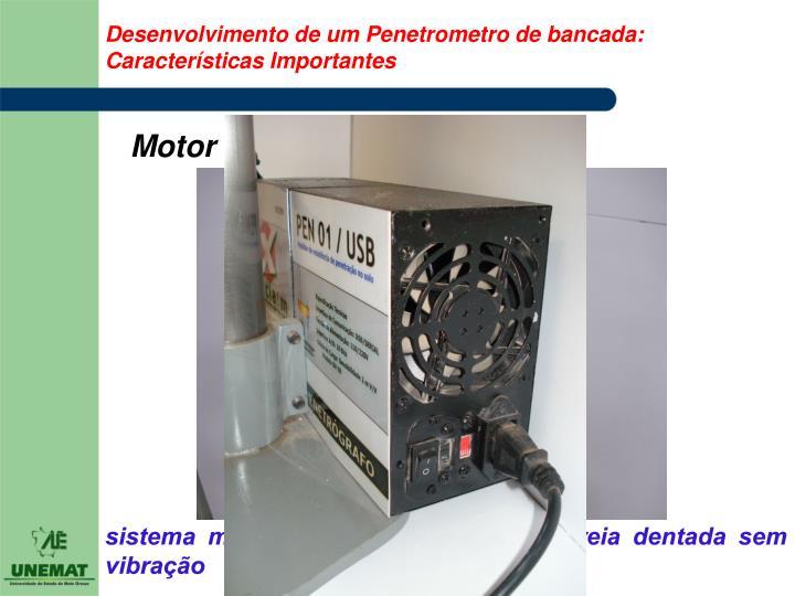 Desenvolvimento de um Penetrometro de bancada: Características Importantes