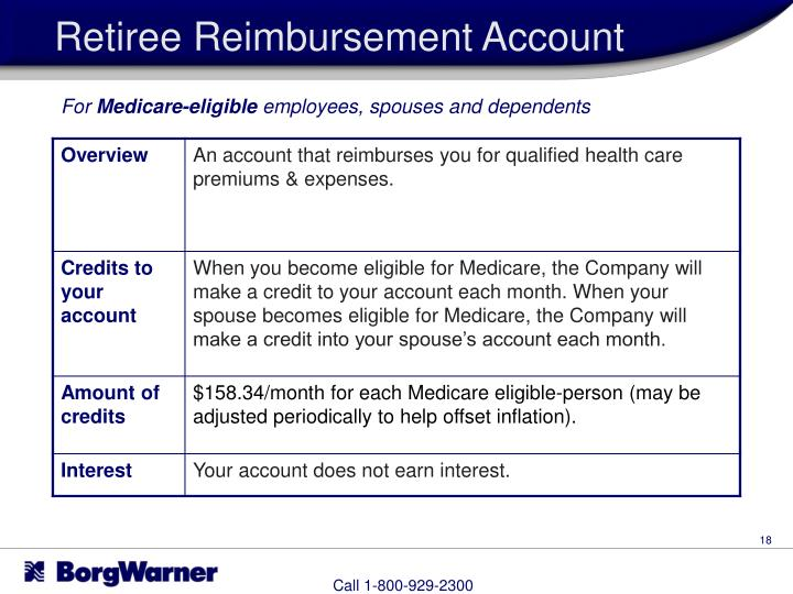 Retiree Reimbursement Account