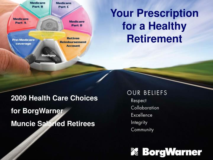 Your Prescription for a Healthy Retirement
