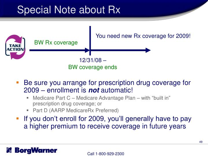 Special Note about Rx
