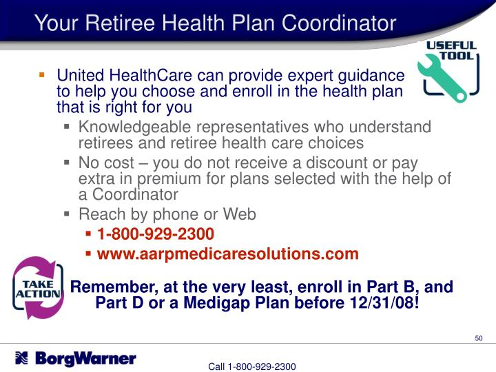 Your Retiree Health Plan Coordinator