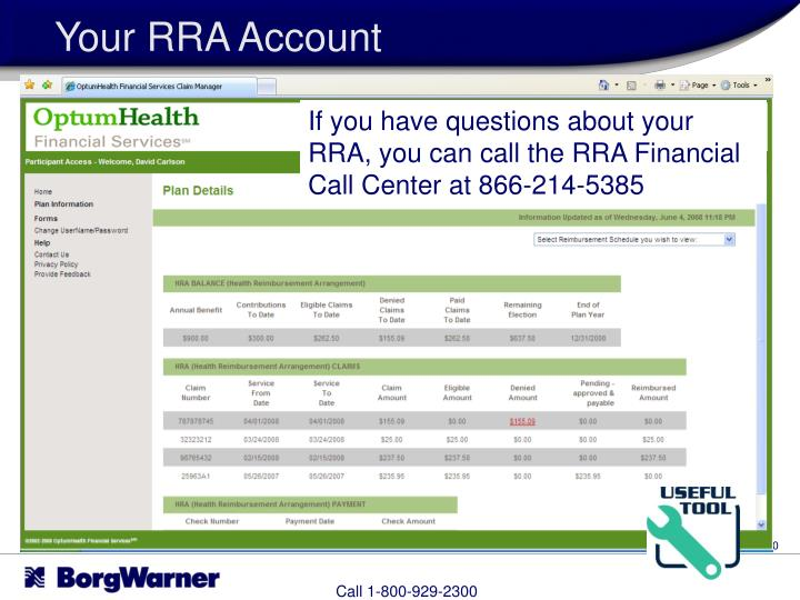 Your RRA Account