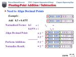 floating point addition subtraction