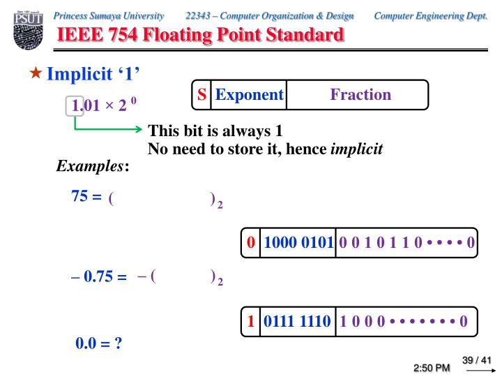 IEEE 754 Floating Point Standard