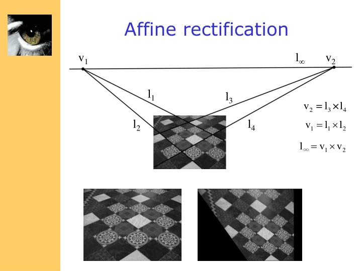 Affine rectification