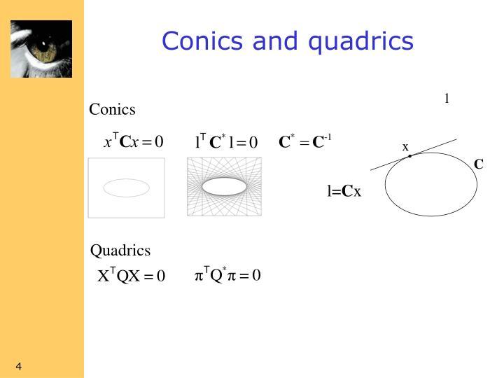 Conics and quadrics
