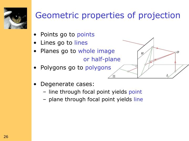 Geometric properties of projection