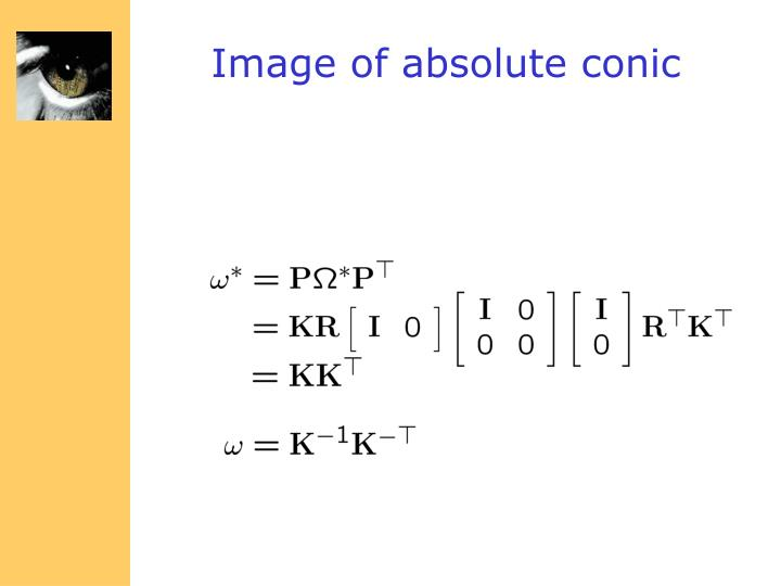 Image of absolute conic