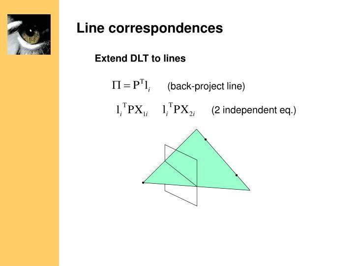 Line correspondences