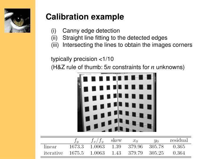 Calibration example