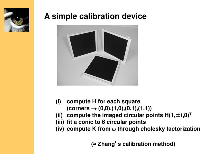 A simple calibration device