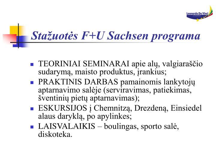 Stažuotės F+U Sachsen programa