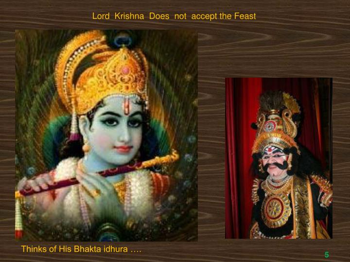 Lord  Krishna  Does  not  accept the Feast