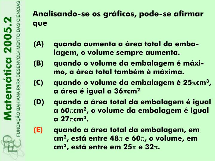 Matemática 2005.2