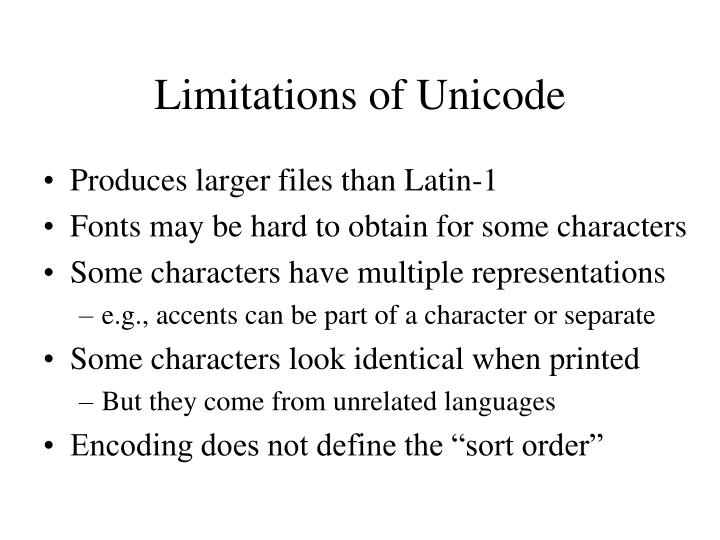 Limitations of Unicode